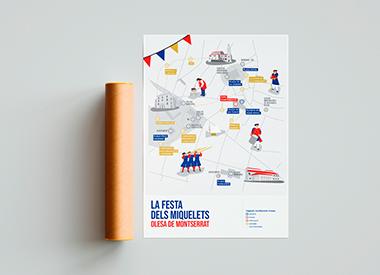 Poster. Diseño editorial e ilustración para evento en Olesa de Montserrat.