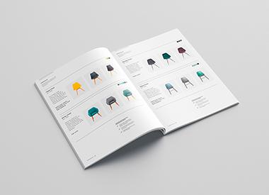 Diseño editorial. Revista catálogo de muebles de diseño.