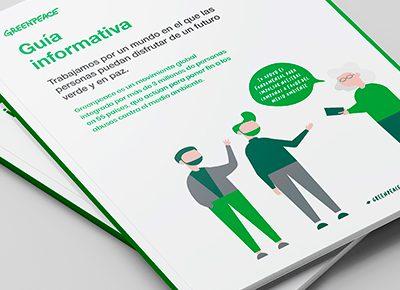 Folleto Informativo. Diseño editorial para ONG ambientalista internacional.